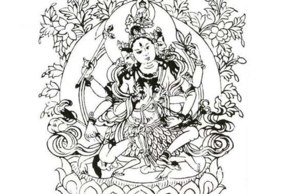 Parnashavari in the Garden