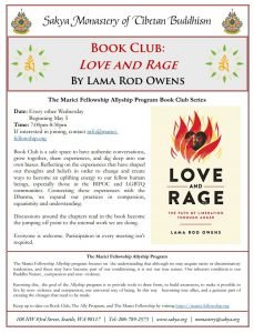 Book Club 5-5 Love And Rage Flyer